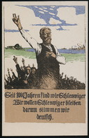 AK/CP Schleswig  Propaganda Volksabstimmung   Ungel./uncirc. 1920    Erhaltung /Cond. 2  Nr. 00543 - Schleswig