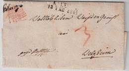 "1841, "" AALEN "" Seltener Reko-Brief! , #a789 - Wuerttemberg"