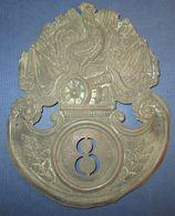 Plaque De Shako 8° Legion De Garde Nationale M1831 - Army & War