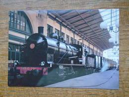 """Train , Ajecta N°43 , La 140 C 231 Et La Rame """" Ty """" En Gare De Paris-nord Lors Du Tournage Du Film """" L'amante """" - Trains"""