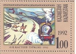 KAZ 1992-12 Locomotive, KAZAKISTAN, 1 X 1v, MNH - Kasachstan
