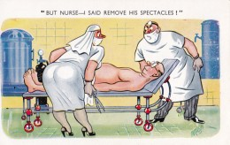 AL77 Comic/humour - Nurse, Doctor And Patient, Signed Milca - Humour