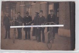 PETEGHEM-STATION-GARE-PERSONEEL-ORIGINELE 19DE EEUWSE FOTO OP HARD KARTON-UNIEK DOCUMENT-ZIE DE 2 SCANS - Deinze
