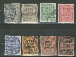 Duitse Rijk / Deutsches Reich DR Dienst 1 T/m 8 Used - Dienstpost