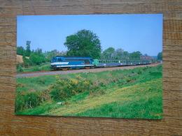 Train , T.e.r. Bretagne Tractée Par La BB 67388 à Montreuil-sur-ille , Ligne De Rennes à St-malo - Trains