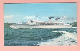Transatlantico Michelangelo Navi Navires Ships Schiffe Italia Navigazione Cpa 1967 - Altri