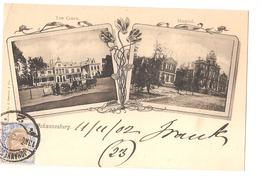 SOUTH AFRICA - JOHANNESBURG - LAW COURTS + HOSPITAL - STAMP - MAILED TO NOCERA INFERIORE - EDIT BARNETT 1902 (2788) - Afrique Du Sud