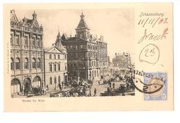 SOUTH AFRICA - JOHANNESBURG - MARKET STR. WEST - STAMP - MAILED TO NOCERA INFERIORE - EDIT BARNETT 1902 (2789) - South Africa