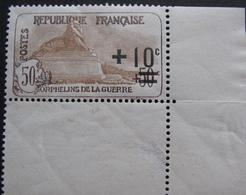 1817 - AU PROFIT DES ORPHELINS DE LA GUERRE - N°167 CdF NEUF** - Cote : 65,00 € - France