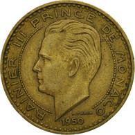 Monnaie, Monaco, Rainier III, 20 Francs, Vingt, 1950, TB+, Aluminum-Bronze - Monaco