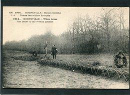CPA - 1914... MOGNEVILLE - Maison Blanche - Tombe Des Soldats Français, Animé - Guerre 1914-18