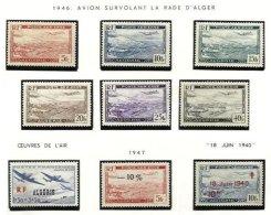 // ALGERIA, Airmails, Yv 1/7, 1A, 245, */** MLH/MNH, F/VF, Cat. € 9 - Algeria (1924-1962)