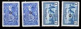 Canada Timbres De Service YT N° 27 Et 28 Neufs ** MNH. TB. A Saisir! - Officials