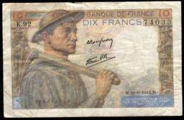 10 FRANCS MINEUR 22.6.1944 F:8/12 - 1871-1952 Anciens Francs Circulés Au XXème