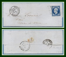 LAC PC 1253 (faible) / N° 14 Fere Champenoise (49) Type 15  1857 > Châlons Sur Marne T15 (ind 5) - Postmark Collection (Covers)