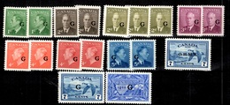 Canada Timbres De Service 1950/1952 Neufs ** MNH. TB. A Saisir! - Officials