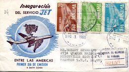 36750 Panama, Circuled Registered  Cover 1960 Jet Flight Opening - Panama