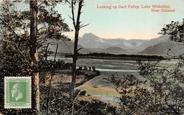 ¤¤  -  NOUVELLE-ZELANDE   -   Looking Up Dart Valley, Lake Wakatipu    -   ¤¤ - New Zealand
