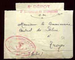 Bande Journal ( Devant ) De Toulon Pour Troyes - Marcophilie (Lettres)