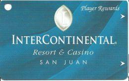 InterContinental Resort & Casino San Juan Puerto Rico Player Rewards Card - Casino Cards