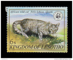 Lesotho Scott #351, 6s Multicolored (1982) African Wild Cat, Mint Never Hinged - Lesotho (1966-...)