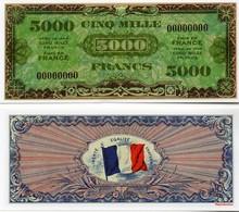 """Militaria - Billet De 5000 Francs Dit """"d'invasion"""" édité Par Les Américains En 1944 - Specimen"""