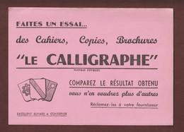 BUVARD - LE CALLIGRAPHE - CAHIERS / COPIES / BROCHURES  - 2 Scannes. - Stationeries (flat Articles)