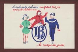 BUVARD -  L.B....VÊTEMENTS....  LA MARQUE DES JEUNES - - 2 Scannes. - Textile & Clothing
