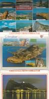 GIBRALTAR. 8 VIEWS SIZE 15x11CM. CIRCA 1970's. PHOTOSET SOUVENIR LAMBRANÇA GRUSS AUS- BLEUP - Gibraltar