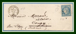 LSC GC 1482  / N° 37 Fere Champenoise (49) Type 16 1871 > Congy T16 - Marcophilie (Lettres)