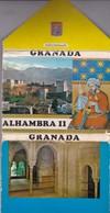 GRANADA, ALHAMBRA II. 12 VIEWS SIZE 15x11CM. CIRCA 1970's. PHOTOSET SOUVENIR LAMBRANÇA GRUSS AUS- BLEUP - Gibraltar