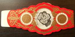 I10 Lot Bagues De Cigares Churchill  Rose Roos  Fleurs 1 Pièce - Cigar Bands