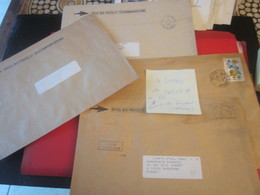Timbres Lot 4 Lettres-Océanie Papeete Tahiti Franchise Postale-OPT+Matoury Guyane-Marcophilie-Faire Défiler Scanns-voir - Tahiti