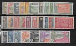 CAMEROUN - YT 106/132 **/* SANS CHARNIERE OU AVEC CHARNIERE LEGERE (TIMBRES A L'ENVERS) - COTE = 70+ EUR. - Cameroun (1915-1959)