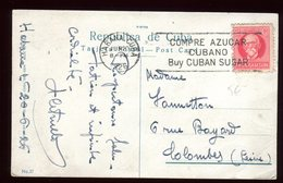 Oblitération Mécanique De La Havane Sur Carte Postale En 1926 Pour La France - Cuba