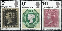 Great Britain 1970 - Philatelic Exhibition ( Mi 555/57 - YT 599/601 ) MNH** Complete Series - 1952-.... (Elizabeth II)