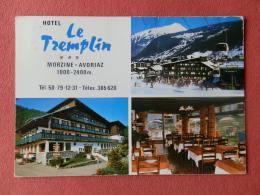 Dep 74 , Cpm  MORZINE AVORIAZ , 1000-2400 M. , Hotel Le TREMPLIN , Multivues  (18.02.013) - Morzine