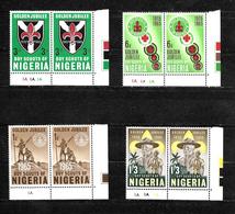Nigeria, 1965 Scout Golden Jubilee Complete Set In Corner Marginal Pairs MNH (6843) - Nigeria (1961-...)