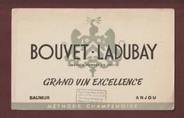 BUVARD - BOUVET LADUBAY -- Grand VIN Excellence - SAUMUR / ANJOU - Joseph BAUER à SCHILLIGHEIM. 67 - 2 Scannes. - Buvards, Protège-cahiers Illustrés
