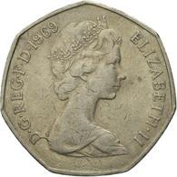 Monnaie, Grande-Bretagne, Elizabeth II, 50 New Pence, 1969, TB, Copper-nickel - 1971-… : Monnaies Décimales