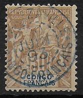 CONGO - YT 20 OBLITERE BRAZZAVILLE - COTE = 25 EUR. - Congo Français (1891-1960)