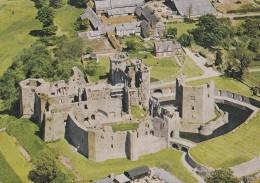 RAGLAN CASTLE. AERIAL VIEW - Monmouthshire