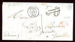 Lettre Avec Texte ( Scan Intérieur Sur Demande)  De Gauville Pour Gauville En 1857 - Postmark Collection (Covers)