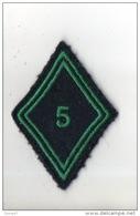 MILITARIA . ÉCUSSON DE BRAS TISSU LOSANGE . 5e - Réf. N°64TI - - Patches