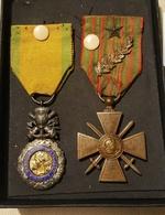2 Médailles 1870 En Argent Et 1914 - 1917 - France