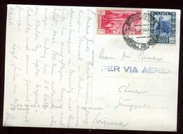 Tripolitaine - Affranchissement De Tripoli Sur Carte Postale Par Avion En 1938 - Tripolitania