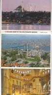 SULEYMANIYE MOSQUE.11 VIEWS SIZE 16x11CM. CIRCA 1970's. PHOTOSET SOUVENIR LAMBRANÇA GRUSS AUS- BLEUP - Turchia
