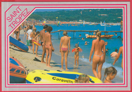 CP-83-ST-TROPEZ -Plage De TAHITI* Animation - Nudisme **2 SCANS - Saint-Tropez