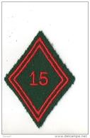MILITARIA . ÉCUSSON DE BRAS TISSU LOSANGE . 15e R.C.S. RÉGIMENT DU TRAIN - Réf. N°68TI - - Patches