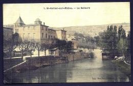 CPA ANCIENNE FRANCE- ST-VALLIER-SUR-RHONE (26)- LA GALAURE- TRES BELLE VUE COLORISÉE FINITION TOILÉE - Frankreich